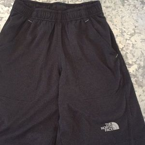 North Face grey pull on shorts